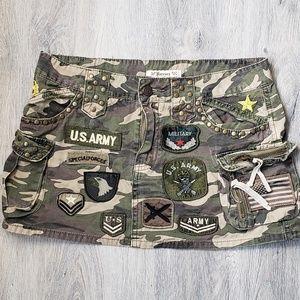Forever 21 Military Camouflage Mini Skirt